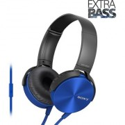SONY MDRXB450AP BLUE WITH MIC 1 YEAR SONY INDIA WARRANTY