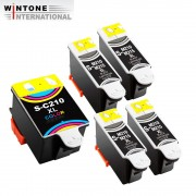 5x Kompatible Tintenpatrone für Samsung CJX-1000 CJX-1050W CJX-2000FW INK M210 C210 (4BK 1C)