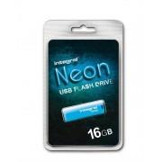 INTEGRAL stick USB flash 16GB USB2.0 Neon albastru