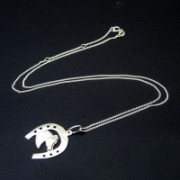 Neckless with Silver Horseshoes
