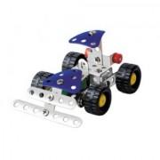 Magideal Metal DIY Assembly Model Kit Enlighten Toy Bulldozer Truck W Set of 59 Pcs