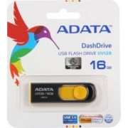 USB Flash Drive ADATA DashDrive UV128 16GB USB 3.0 Negru-Galben