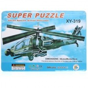 Lionsland Helicopter 3D Puzzle Toy for Kids Creative Attention Building -Easy to Assemble-Min Age-3 Years