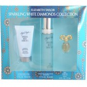 Elizabeth Taylor Sparkling White Diamonds 3 Piece Gift Set for Women