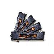 G-Skill - Scheda di memoria Ram DDR4 Ripjaws 4 F4-3000C15Q-32GRK 32 GB (4 x 8 GB), 3000 MHz, modulo di memoria non-EEC, con diffusore di calore, nero