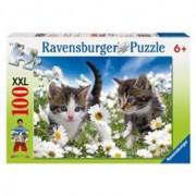 Puzzle Pisicute Si Margarete, 100 Piese