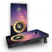 "Custom Cornhole Boards Zodiac Stars Leo Themed Cornhole Game CCB898 Size: 48"""" H x 24"""" W, Bag Fill: All Weather Plastic Resin"