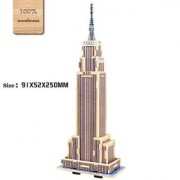 3d DIY Wooden Puzzles Empire State Building Model Toy and Hobby for Kids