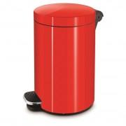 Alda rozsdamentes pedálos szemetes 5 literes - piros