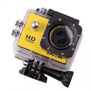 SJCAM SJ4000 Cámara video deportiva, color amarillo