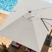 Hespéride Toile de parasol Déporté Fresno Taupe Jardin