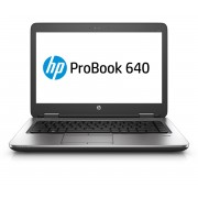 HP ProBook 640 i5-6200U 14.0 8GB/256 PC Core i5-6200U, 14.0 FHD AG LED SVA, UMA, 8GB DDR4 RAM, 256GB SSD, DVD+/-RW, BT, 3C Battery, FPR, Win 10 PRO 64 DG Win 7 64, 1yr Warranty