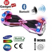 8″ Pink Chrome Bluetooth Segway Hoverboard + FREE Carry Case