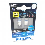 Pack 2 Ampoules T10 Philips CeraLight 360 X-treme Vision LED 8000K -...