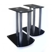 Pair Home Cinema Hifi Satellite speaker stands - Black