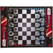 Star Wars Chess Game, Darth Vader And Boba Fett, Silver Pieces