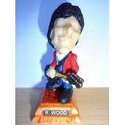 Ron Wood (Rolling Stones) Petite Statuette Caricaturale En Resine 3x7.5 Cm Made In Argentina