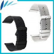 Stainless Steel Watch Band 20mm 22mm 24mm for Fossil Pin Clasp Strap Wrist Loop Belt Bracelet Black Silver + Tool + Spring Bar