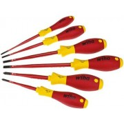 Wiha SoftFinish® electric slimFix - Set cacciaviti a punta piana/ Phillips 3201K6, 6 pezzi