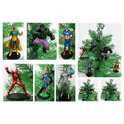 AVENGERS Super Hero Christmas Tree Ornament Set - 4.5 Plastic Shatterproof Ornaments