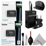 (2 Pack) Vivitar EN-EL23 Battery and Charger Kit for NIKON Coolpix P900 P610 P600 S810c Cameras (Nikon EN-EL23 Replacement) - Includes: 2 Vivitar Ultra High Capacity Rechargeable 2550mAh Li-ion Batteries + AC/DC Vivitar Rapid Travel Charger + Cleaning Kit