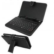 Husa tableta 10.2 inch, cu tastatura USB, din piele eco