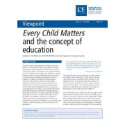 Every Child Matters and the Concept of Education by Peter Moss