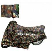 Bull Rider Two Wheeler Cover for Bajaj Pulsar 150 DTS-i with Free Microfiber Gloves