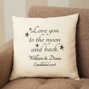 Love You To The Moon and Back Personalized Cushion