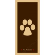"""Pet Rebellion futtató szőnyeg """"Barna mancs"""" mintával 45x100 cm-es"""