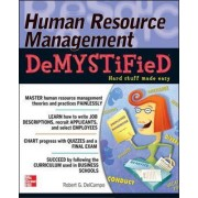 Human Resource Management DeMYSTiFieD by Robert G. Delcampo
