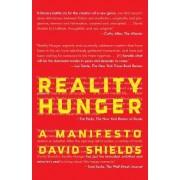Reality Hunger by Professor David Shields