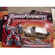 Transformers RID Robots in Disguise X-BRAWN (Silver) Autobot Action Figure (2001 Hasbro)