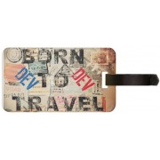 Exoctic Silver DEV LUGGAGE TAG ( BTT )001 Luggage Tag(Multicolor)