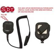 PJD-4603-GP320 MICROFONO/ALTOPARLANTE CRISTAL CLEAR AUDIO PER SERIE MOTOROLA GP-320/340/360/380