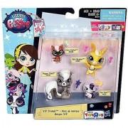 Littlest Pet Shop VIP Friends Figure 4-Pack