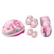 Hello Kitty 73403821 - Set de seguridad con casco, rodilleras y coderas