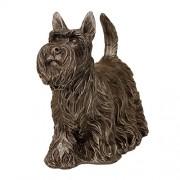 Cachorro Decorativo Schnauzer de Resina Ref: Qc0488