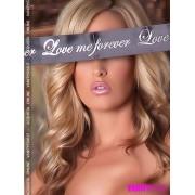 Maschera nastro raso con stampa Love me Forever