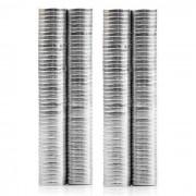 6 x 1mm Magnet cylindre circulaire bricolage Puzzle Set - Silver (200 PCS)