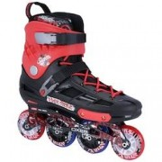 Oxer Patins Oxer Graffiti - In Line - Freestyle - ABEC 7 - Adulto - PRETO/VERMELHO
