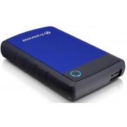 HDD Extern Transcend 25H3B, 2.5 inch, 2TB, USB 3.0, Protectie la soc (Negru/Albastru)