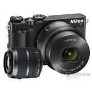 Nikon 1 J5 kit (cu obiectiv 10-30mm PD-Zoom + 30-110mm), negru