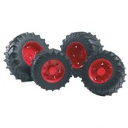 Bruder Twin Tires with Red Rims for 03000 Tractor Series