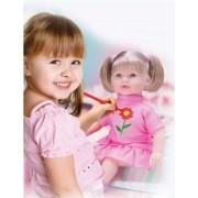Boneca Pinta e Repinta Diver Toys - Ref 653