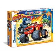 Clementoni 26412 - Puzzle Maxi Blaze And The Monster Machines, 60 Pezzi