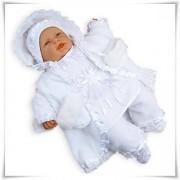 Ubranko do chrztu 6-częściowe polarowe (kolor śnieżnobiały)