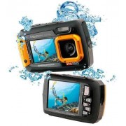 Goxtreme Aquapix W1400 Active Unterwasser-Digitalkamera mit Dual-Display Orange