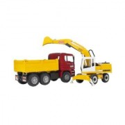 Bruder 2751 Man TGA Construction Truck and Liebherr Excavator