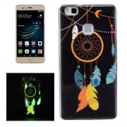 For Huawei P9 Lite Noctilucent Wind Chimes Pattern IMD Workmanship Soft TPU Back Cover Case